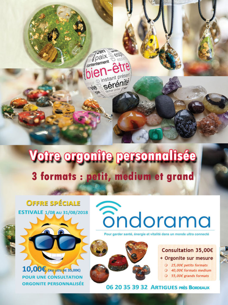 Ondorama orgonites offre estivale aout 2018