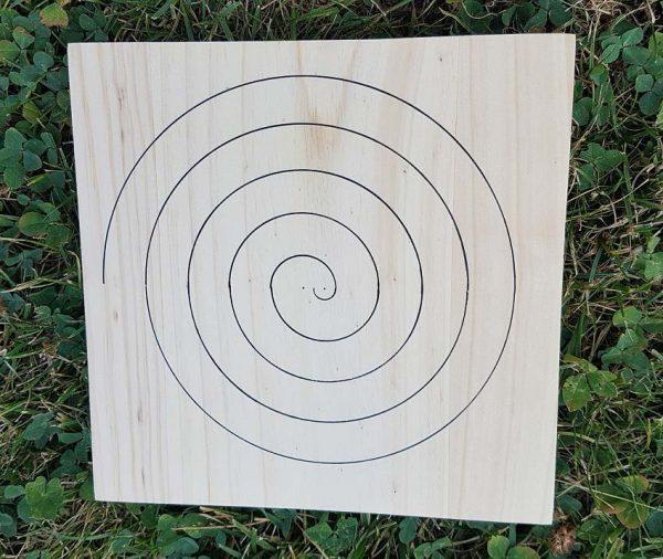 ondorama onde de forme spirale pour grille de cristaux