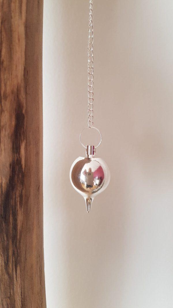 Ondorama pendule luzi en metal argente