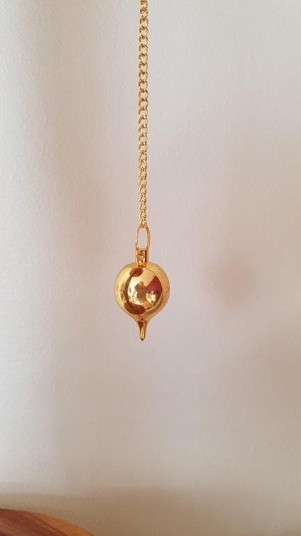 Ondorama pendule luzi en metal dore