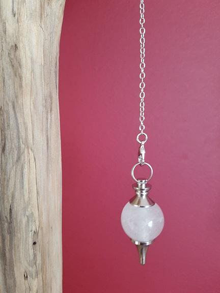 Pendule sephoroton cristal de roche Ondorama bien être