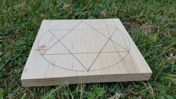 Ondorama support Sceau de salomon dans cercle grille de cristaux