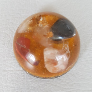 Ondorama orgonite demi sphere jaune d-or 4cm vitalité