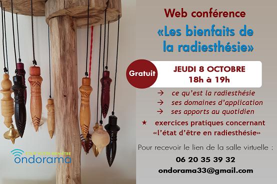 web conference radiesthesie ondorama bien etre