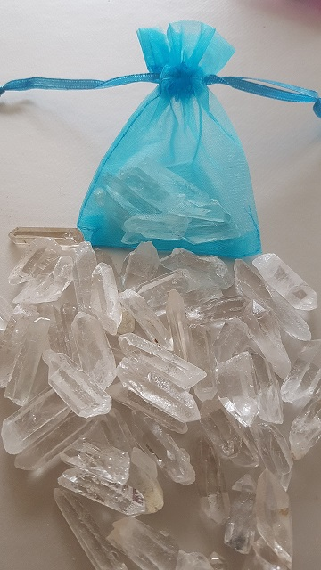 pointes de cristal de roche brutes 2-3cm ondorama bien etre
