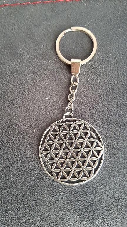 Porte clef métal Fleur de Vie Ondorama bien etre