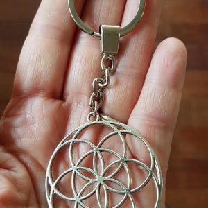 Porte clef métal Graine de Vie Ondorama bien etre