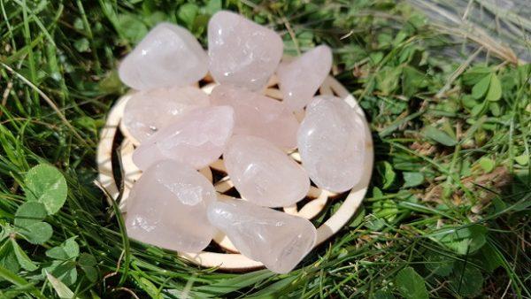 Quartz rose pierre roulée Ondorama bien-être