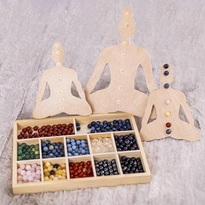 Bouddha bois 7 chakras Ondorama bien etre