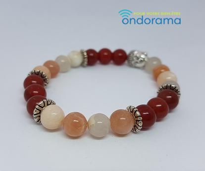 Bracelet fertilité pierre de lune et cornaline Ondorama bien etre