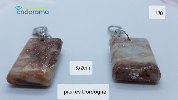 Porte-clef pierres de riviere Dordogne Ondorama bien etre