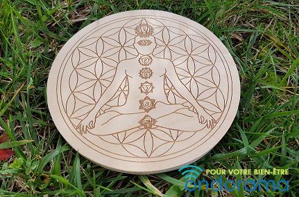 Bouddha fleur de vie 7 chakras Ondorama Bien Être