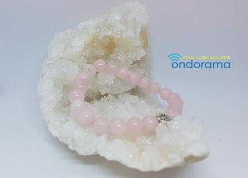 bracelet en quartz rose ondorama bien être gironde