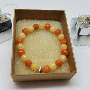 calcite orange bracelet ondorama bien etre