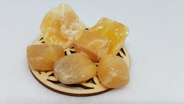calcite orange pierre roulee ondorama bien etre