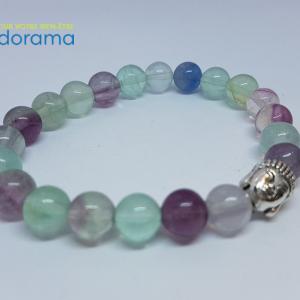 Fluorite multicolore bracelet Ondorama bien être