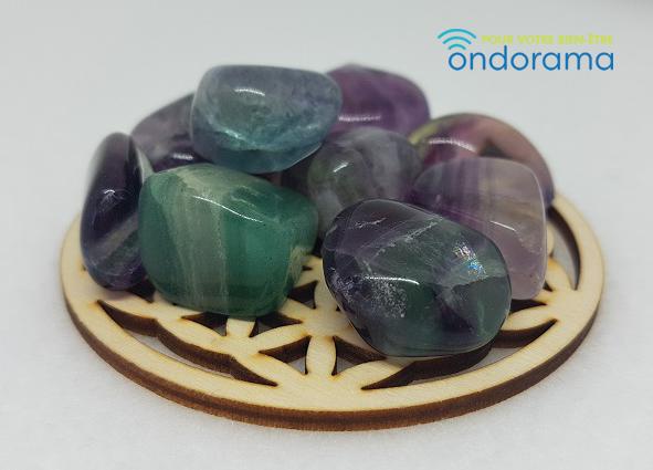 Fluorite multicolore pierres roulées Ondorama Bien Être