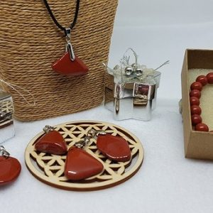 jaspe rouge pendentif et bracelet ondorama bien etre