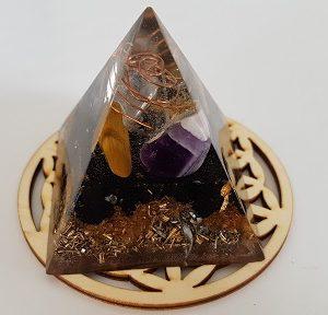 orgonite pyramide ondes electromagntiques 6cm ondorama bien etre