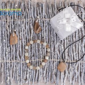 pierre de lune multicolore bracelet et pendentif ondorama bien etre