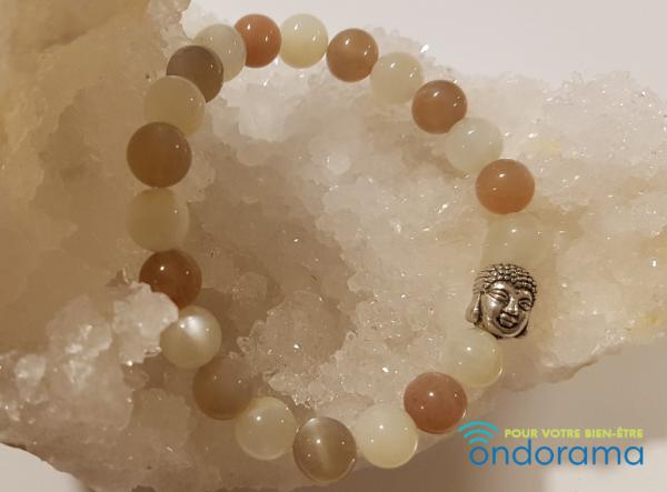 pierre de lune multicolore bracelet ondorama bien etre