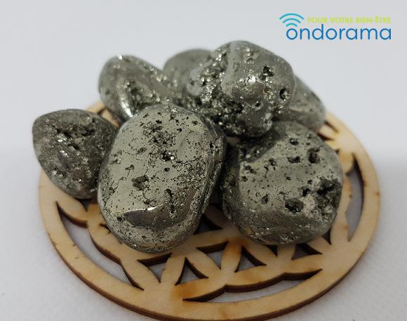 Pyrite Pérou pierre roulée Ondorama Bien être