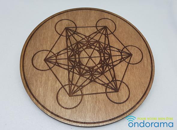 cube metatron en bois 10 et 20cm diametre Ondorama Bien-Être