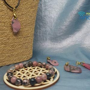 Rhodonite pendentif et bracelet Ondorama Bien-Être