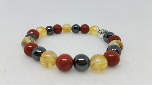 Vitalité jaspe rouge citrine hematite bracelet ondorama bien etre