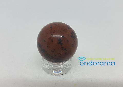 Sphère de 2cm en obsidienne acajou