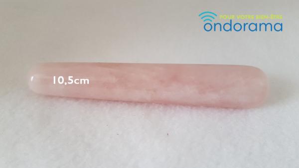 quartz rose bâton de massage ondorama bien être