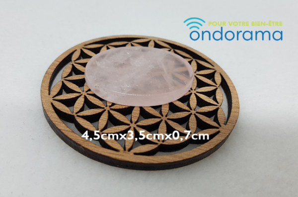 quartz rose galet plat de massage ondorama bien être