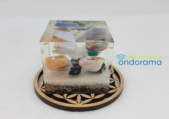 Orgonites cube 7 chakras Ondorama Bien Être