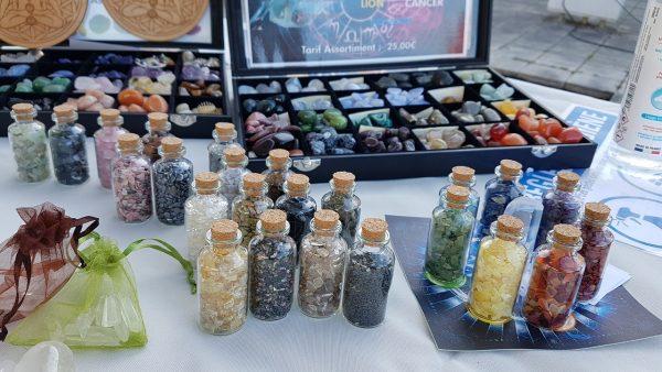 mini pierres roulées dans flacons en verre Ondorama Bien Être