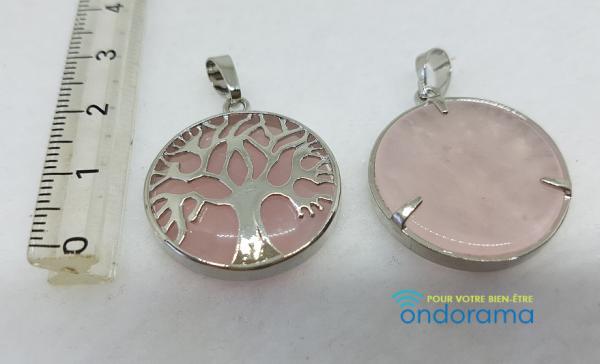 pendentifs quartz rose Ondorama bien etre