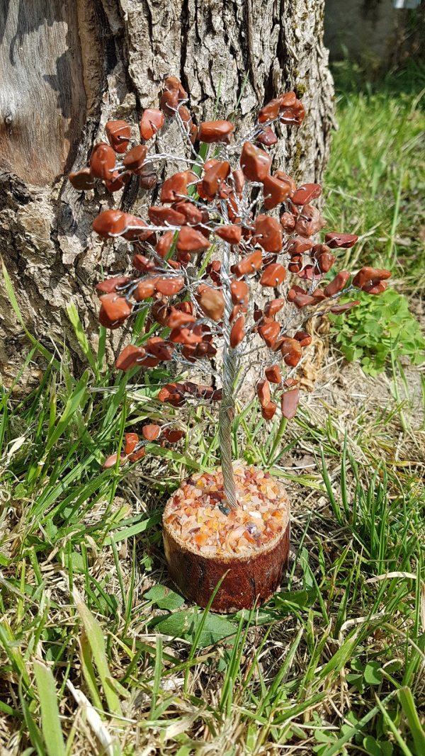 Arbre de vie jaspe rouge