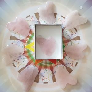 Gua sha quartz rose mini format