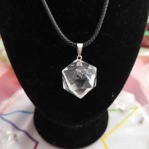 cristal de roche icosaèdre pendentif Ondorama Bien être