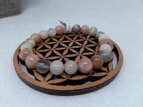 pierre de lune multicolore bracelet Ondorama Bien Être