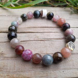 Bracelet en tourmaline multicolore